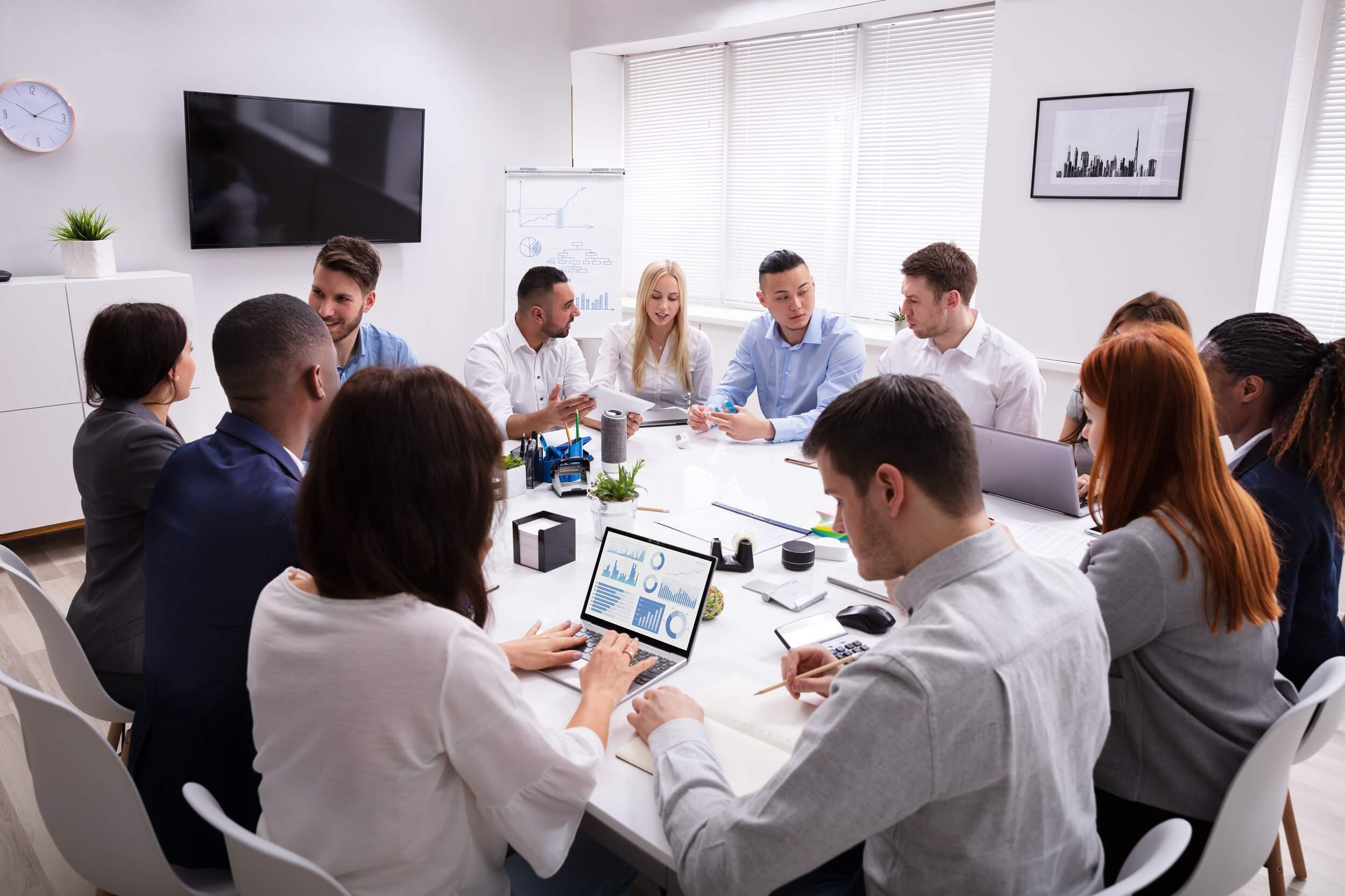 Team working in office Picture