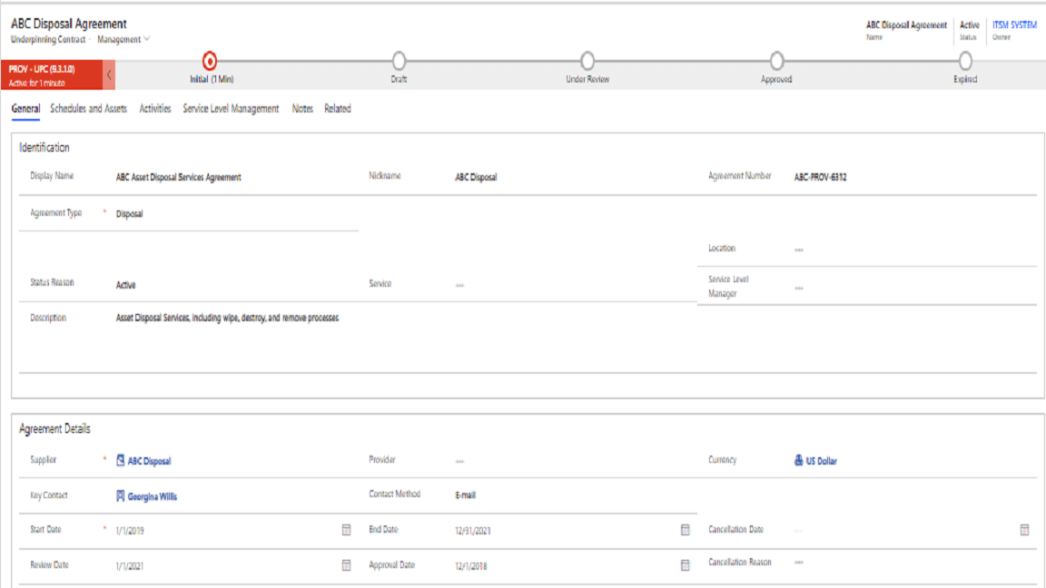 IMAC Surplus and Disposal Screenshot