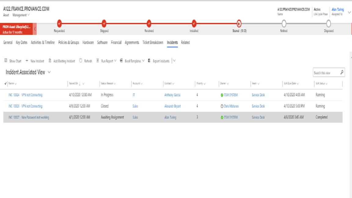 ITAM Repair Screenshot