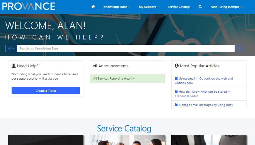 Self-Service Portal Image