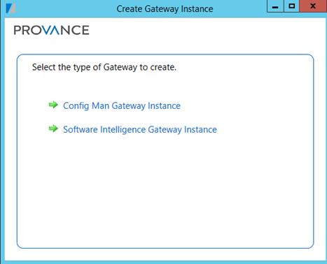 Create Gateway Instance