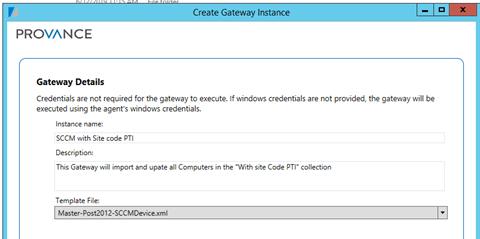 Gateway Details