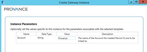Instance Parameters