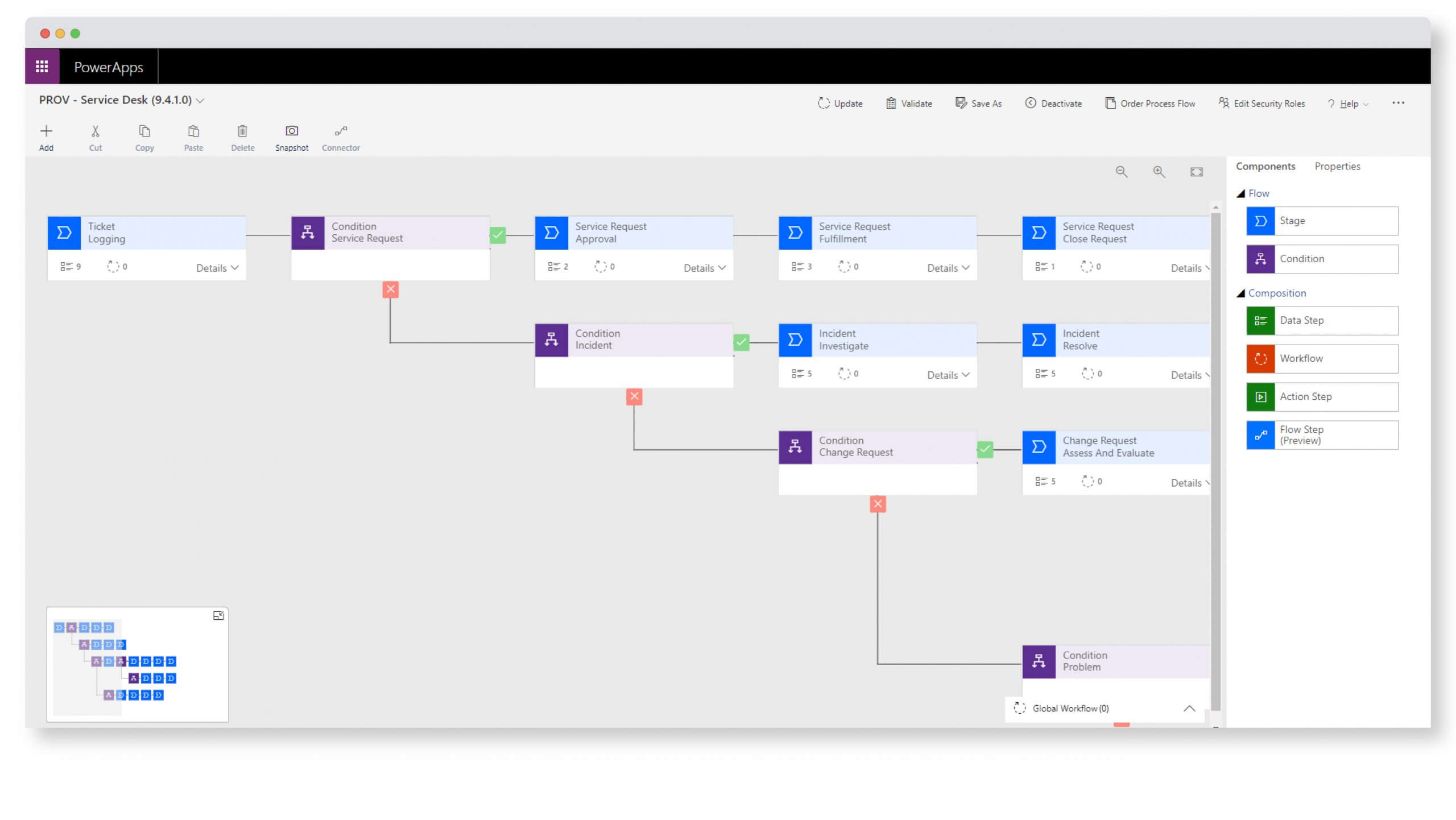 ServiceTeam Codeless Configuration Screenshot