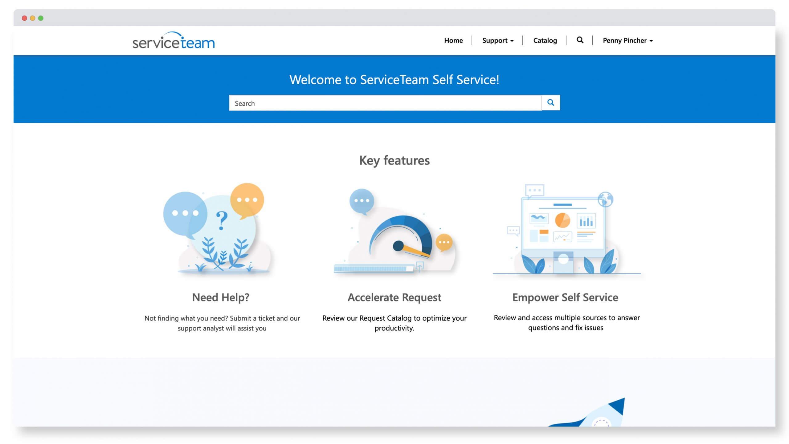 Self-Service Portal Screenshot